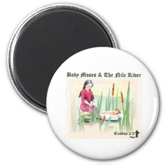 Exodus 2:3 - Baby Moses on the Nile River Refrigerator Magnets