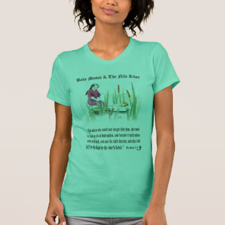 Exodus 2:3 - Baby Moses on the Nile River T-Shirt