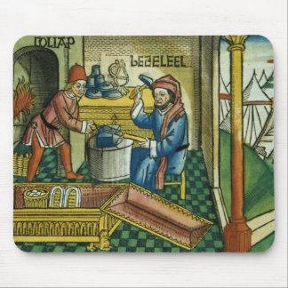 Exodus 31 2-8 Bezalel and Oholiab making the Ark o Mouse Pad