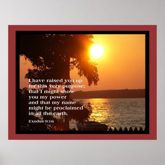 Exodus 9:16 LARGE POSTER