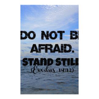 Exodus Bible verse Do not be afraid. Stand still. Stationery