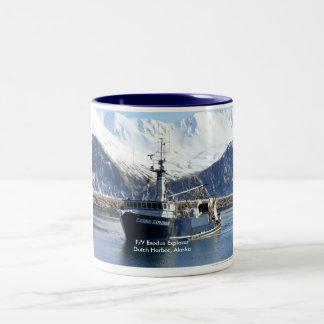 Exodus Explorer, Fishing Trawler in Dutch Harbor Two-Tone Coffee Mug