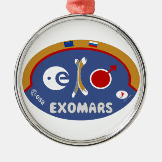 EXOMARS – The Search For Life Round Metal Christmas Ornament