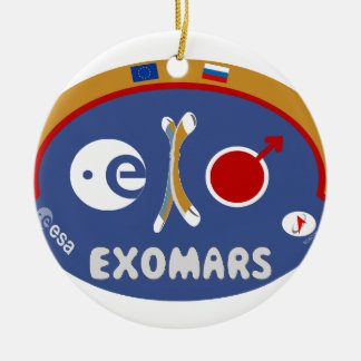 EXOMARS – The Search For Life Double-Sided Ceramic Round Christmas Ornament