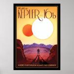 Exoplanet Kepler-16b Space Tourism Poster