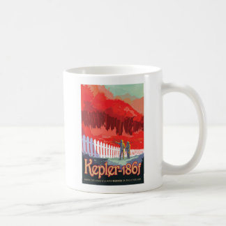 Exoplanet Kepler 186f Retro Travel Illustration Coffee Mug