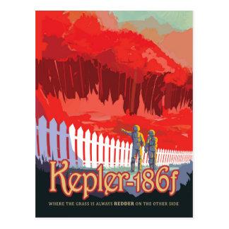 Exoplanet Kepler-186f Space Tourism Postcard