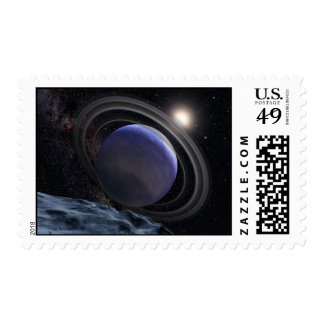 Exoplanet Space Art Drawing Postage