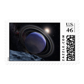 Exoplanet Space Art Drawing Stamps