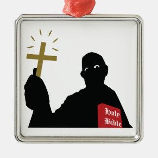 Exorcista Adorno Navideño Cuadrado De Metal
