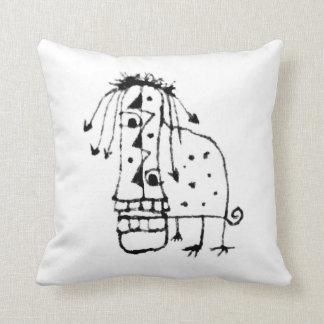 Exotic Animal Monster Throw Pillow