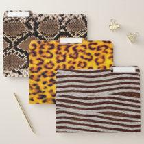 Exotic Animal Print Leopard Snake Zebra File Folder