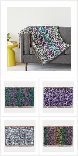 Exotic Animal Print Throw Blankets