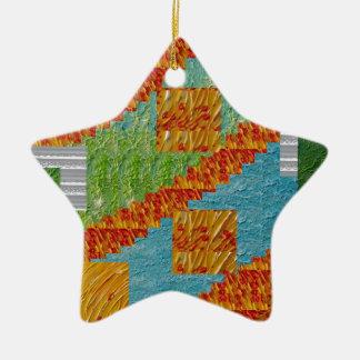 Exotic Art Collage Decoration by NavinJOSHI NVN47 Christmas Tree Ornament