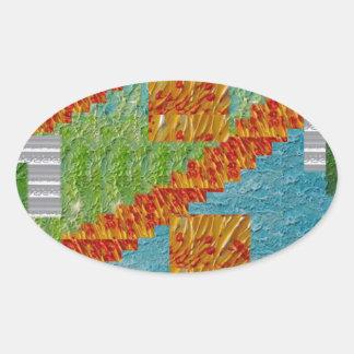 Exotic Art Collage Decoration by NavinJOSHI NVN47 Oval Sticker