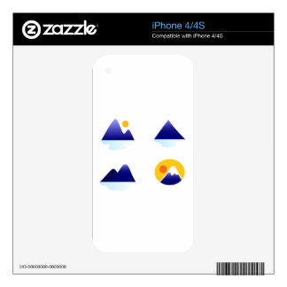 Exotic asia Mountains blue iPhone 4 Decal