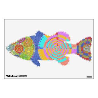 Exotic Bass  Rainbow Wall Decal