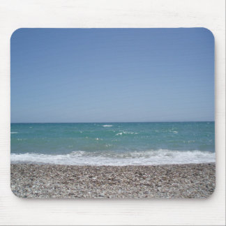 Exotic beach and blue ocean summer mousepap mouse pad