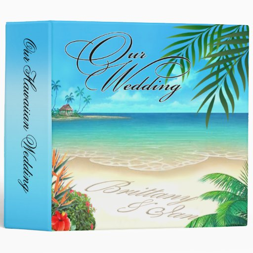 Exotic Beach Hawaiian Album ask for names in sand 3 Ring Binder