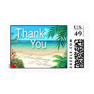 Exotic Beach Thank You ask me about names in sand Postage