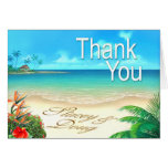Exotic Beach Thank You Stationery Note Card