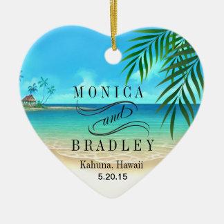 Exotic Beach Tropical Destination Wedding Ornament