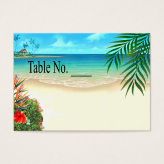 Exotic Beach Tropical Palm Trees placecard Business Card