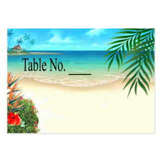 Exotic Beach Tropical Palm Trees placecard Large Business Card
