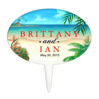 Exotic Beach Tropical Party Luau Cake Toppers