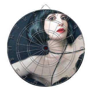 Exotic Beauty - Self Portrait Dartboard With Darts