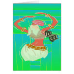 Exotic Belly Dancer Card