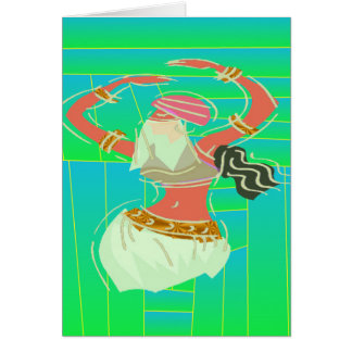 Exotic Belly Dancer Greeting Card