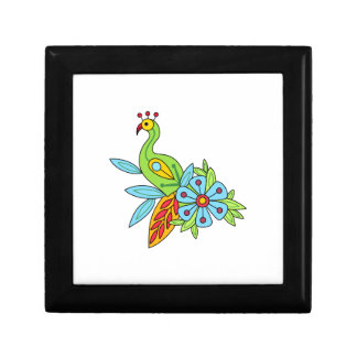 EXOTIC BIRD AND FLOWER GIFT BOX