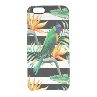 Exotic Bird And Palm Trees Uncommon Clearly™ Deflector iPhone 6 Case