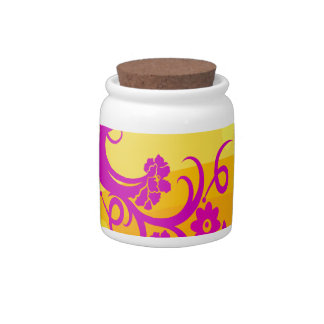 Exotic Bird In Tropical Colors Candy Jar