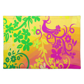 Exotic Bird In Tropical Colors Placemats