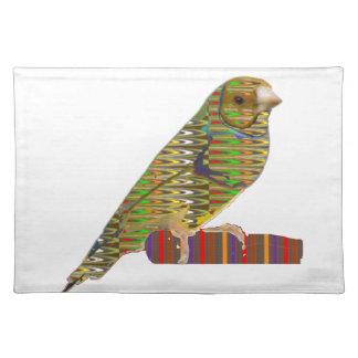Exotic BIRD Pet ZOO Graphic Art: LOWPRICE gifts Placemats