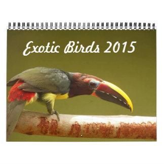 Exotic birds calendar