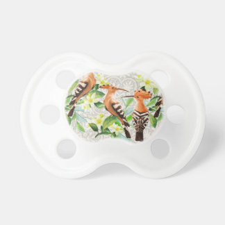 Exotic Birds On Lace Pacifier