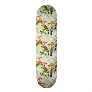 Exotic Birds On Lace Skateboard Deck