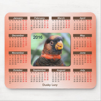 Exotic Birds Series 2106 Calendar Mouse Pad