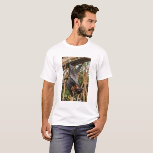 Exotic black and brown flying fox T_Shirt