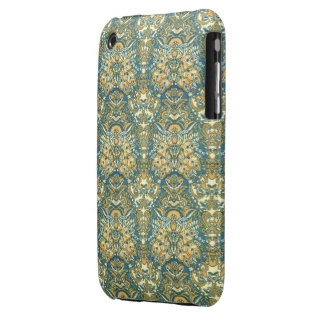 Exotic Blue and Yellow Damask iPhone 3 Cover