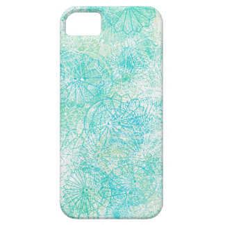 Exotic Blue Floral iPhone case