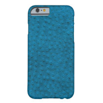 Exotic Blue Ostrich Leather iPhone 6 Case