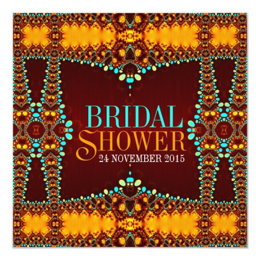 Exotic boheindian Bridal Shower Invitations