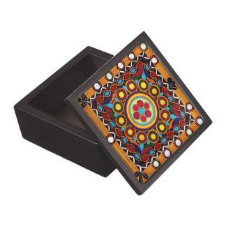 """""""Exotic Bohemian Art Mandala trinket box"""