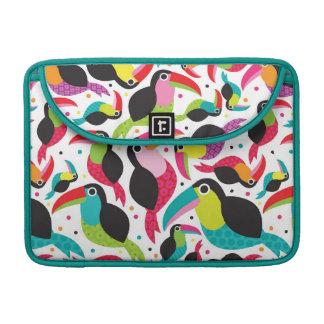 exotic brazil toucan bird background sleeve for MacBook pro