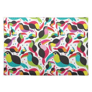exotic brazil toucan bird background place mats