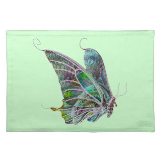 Exotic Butterfly Placemat Cloth Placemat